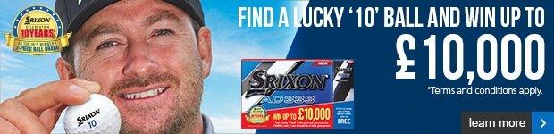 Srixon 10 year anniversary - win up to £10,000