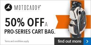 Motocaddy Half Price Pro-Series Bag Offer